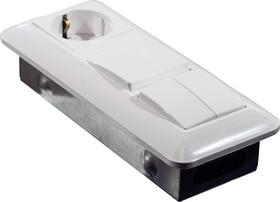 БК2ВР-006А, Блок комбинир. СУ вык.1+выкл.2+розетка с/з