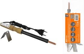 """Паяльник ЭПЦН-100, деревянная ручка, мощность 100 Вт, 230 В, подставка в комплекте, """"Рубин"""" TDM"""