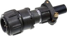 Фото 1/2 2РМДТ18КПН4Ш5В1В, Вилка на кабель с прямым патрубком для неэкранированного кабеля