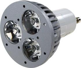FEX107 GU10, 3x1W 220В лампа светодиодная, цвет теплый белый