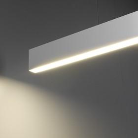Фото 1/8 101-200-30-128 / Линейный светодиодный подвесной односторонний светильник 128см 25W 3000K матовое серебро