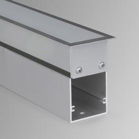 Фото 1/5 100-300-78 / Линейный светодиодный встраиваемый светильник 78см 15W 6500К матовое серебро
