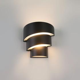 Фото 1/6 1535 TECHNO LED / Светильник садово-парковый со светодиодами HELIX черный