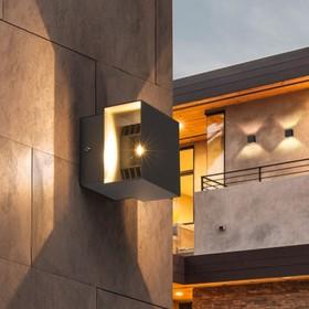 Фото 1/6 1607 TECHNO LED / Светильник садово-парковый со светодиодами графит FOBOS