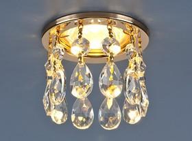 Фото 1/2 2055 MR16 GD/CL / Светильник встраиваемый золото/прозрачный