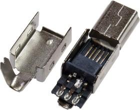 Mini USB-B вилка на кабель,5 конт.