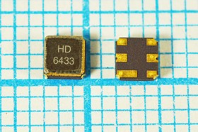 Фото 1/2 ПАВ резонаторы 433.385МГц в корпусе SMD 3x3мм, 1порт, SAW 433385 \S03030C6\\180\\ HDR433,385MS6\(HD6433)