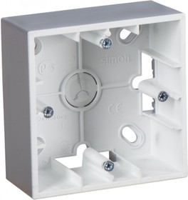Монтажная коробка для накладного монтажа, 1 пост, алюминий 1590751-033
