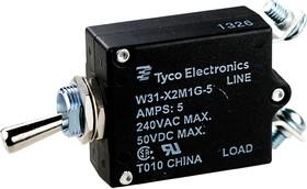 4-1393247-2, W31-X2M1G-52, тепловой выключатель 5А