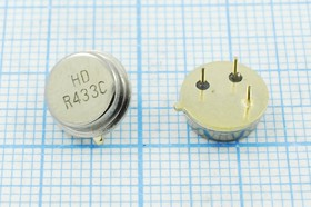 Фото 1/2 ПАВ резонаторы 433.92МГц в корпусе ТО39, 1порт, SAW 433920 \TO39\\175\\ HDR433CTO-01A\ (HDR433C)