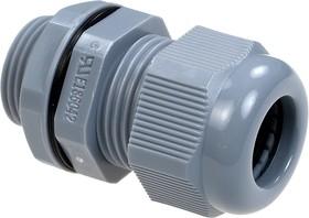 AG-20,(MGB20-14G), Ввод кабельный, полиамид, серый