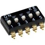 DMHA-05G-G, DIP переключатель 5 поз. SMD 2.54мм (аналог SWD4-5)
