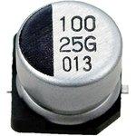 Фото 2/2 ECAP SMD, 100 мкФ, 25В, Конденсатор электролитический алюминиевый SMD