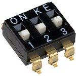 DMHA-03G-G, DIP переключатель 3 поз. SMD 2.54мм (аналог SWD4-3)