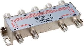 RSE-6812A ALL PORTS POWER PASS, 8-х вых. сплиттер 1GГц