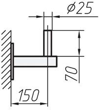Кронштейн для антенны настенный 0.15м