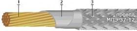 Монтажный провод МПЭ 37 -12 1,5 мм 1 м белый