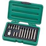 Набор бит шестигранных в пластиковом чемодане, 15 предметов, BT-4015HXB
