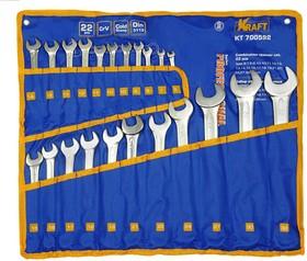 Ключ комбинированный набор 22шт: 6-19,21,22,24,27,30,32мм (сумка)