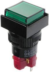 D16LAS1-1ABKG, Переключатель кнопочный с фиксацией 250В/5А LED подсветка 24В