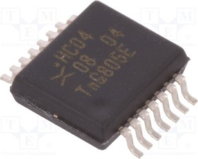 74HC04DB.112, IC: цифровая; HEX, инвертор; Каналы:6; IN:1; SMD; SSOP14; Серия: HC