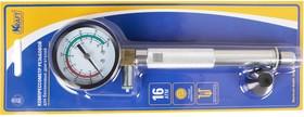 Компрессометр 16 Атм., резьбовой для бензиновых двигателей