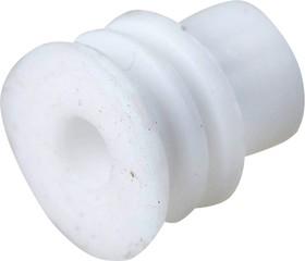 TE-178 018 БЕЛЫЙ, TE-178 018, Фиксатор для провода, dвнеш.=0.80мм, dвнут.=0.60мм, белый