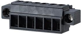 31379106, Съемная клеммная колодка, 3.81 мм, 6 вывод(-ов), 28AWG до 16AWG, 1.5 мм², Винт, 8 А