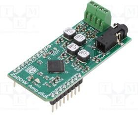 MIKROE-2779, Плата макетная; двухканальный аудиоусилитель класса D; I2C