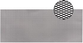 Облицовка радиатора (сетка декоративная) алюминий, 100 х 40 см, черная, ячейки 16мм х 6мм