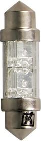 Светодиодная лампа C10W (SV8,5) 11x31 white 2 LEDs