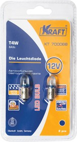 Светодиодная лампа T4W (BA9s) 12v blue (2 шт.Блистер)