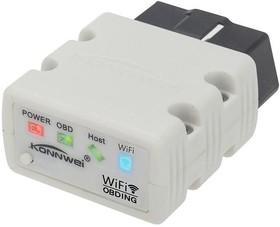 Фото 1/3 Адаптер Konnwei KW 902 Wi-Fi, OBDII сканер для диагностики автомобилей (=ELM 327 мини)
