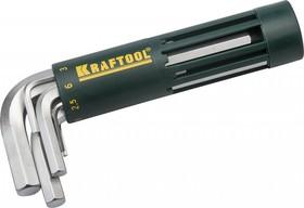 27430-1_z01, Набор KRAFTOOL: Ключи имбусовые короткие, Cr-Mo сталь, держатель-рукоятка, HEX 2-10мм, 8 пред