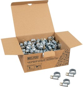 Хомут W1 (8-12 мм, оцинкованная сталь) HELFER