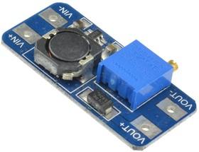 Фото 1/2 MT3608 DC-DC module, DC-DC преобразователь, повышающий, Uвх=2...24В, Uвых= до 28В, Iвых(max)=2А