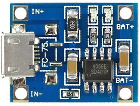 TP4056 charge module, Зарядное устройство для li-ion аккумуляторов, 1А