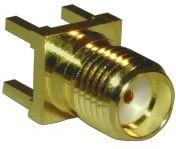 132134, Conn SMA 0Hz to 18GHz 50Ohm Solder ST Thru-Hole RCP Gold