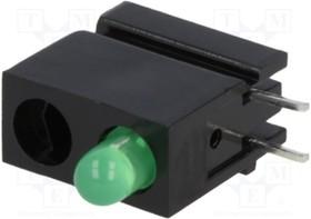 1801.8031, LED; в корпусе; зеленый; 3мм; Кол-во диод: 1; 20мА; 40°; 10 20мкд