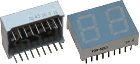 TOD-5263BMB-N, Индикатор синий 25.00х19.00мм общий анод