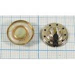 Динамик, диаметр 15мм, толщина 5мм, 4 Ом, 0.25 Вт, дин 15x 5\ 4\0,25\мет\2C\ ...