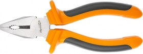 16964, Плоскогубцы, Comfort, 160 мм, комбинированные шлифованные, двухкомпонентные рукоятки