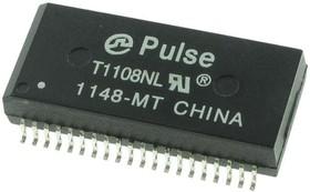 T1108NL, Telecom Transformer 1:2CT/1:1CT 40 Terminal Gull Wing SMD