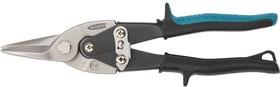 """Фото 1/5 78325, Ножницы по металлу """"PIRANHA"""",250мм,прямой рез,сталь-CrMo, двухкомп.рукоятки"""