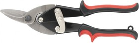 78332, Ножницы по металлу, 250 мм, правые, обрезиненные рукоятки