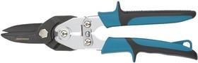 """Фото 1/5 78347, Ножницы по металлу""""PIRANHA"""" усиленные,255 мм,прямой рез,сталь-СrMo, двухкомпонентные рукоятки"""