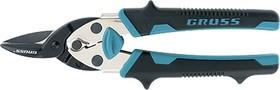 """Фото 1/4 78357, Ножницы по металлу""""PIRANHA"""" ,190мм,прямой рез,сталь-СrM, двухкомпонентные рукоятки"""