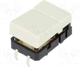 B3J1000, Switch Tactile N.O. SPST Hinge Button PC Pins 0.05A 24VDC 1.27N Thru-Hole