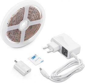 10-87 Комплект светодиодной подсветки, лента 12В, 4,8Вт/м, smd 2835, 60 д/м, 1,5м, диммируемый сенсорный выключатель, 1,5 А адаптер, IP20, 6