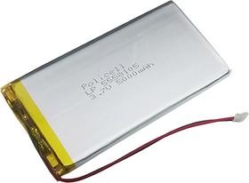 Фото 1/2 LP5558105-PCM, Аккумулятор литий-полимерный (Li-Pol) 4500(5000)мАч 3.7В, с защитой, PoliCell